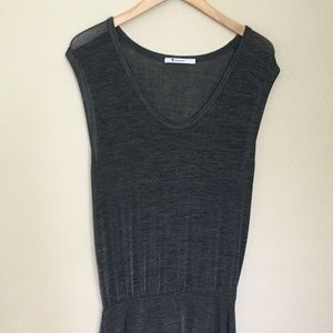 t by alexander wang knit maxi dress - size large